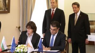България и Кипър подписаха меморандум за корабоплаването