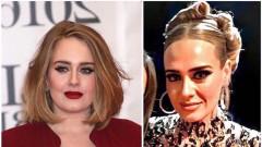 Адел - секси и неузнаваема на парти след Оскарите