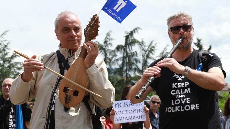 Изминалата седмица бе поредната, в която музикантите от Българското национално