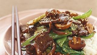 Гъби с месо и ориз
