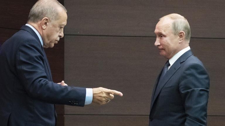 Ердоган звънна на Путин да обсъдят изострената ситуация в Идлиб
