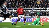 Нюкасъл загуби от Манчестър Юнайтед с 0:2
