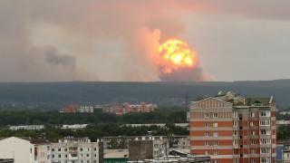 Публикуваха спътникови снимки на взривения арсенал край Ачинск