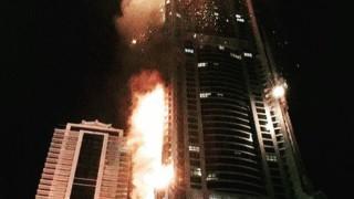 """В Дубай отново горя небостъргачът """"Факел"""""""