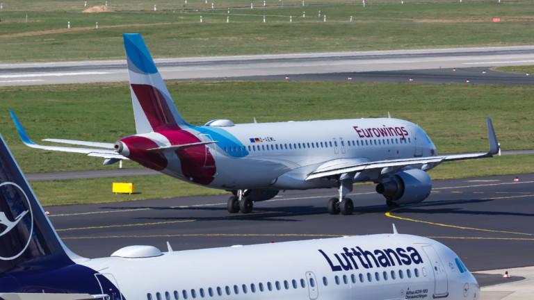 Стачката на кабинните екипажи на дъщерни дружества на Lufthansaзаплашва 300