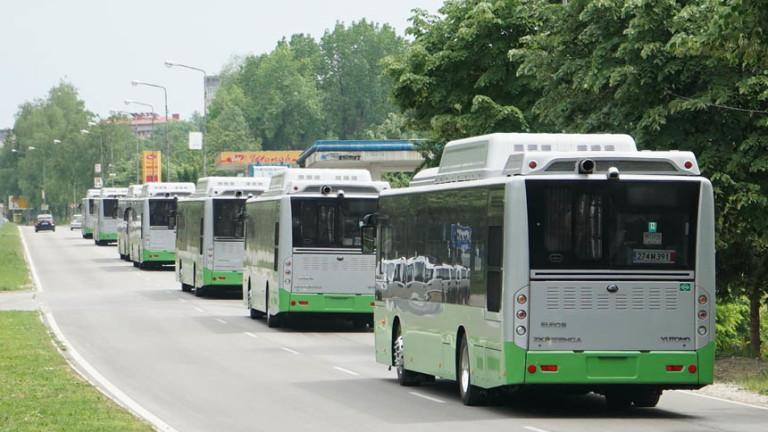 Габрово се сдоби с осем екологични автобуса
