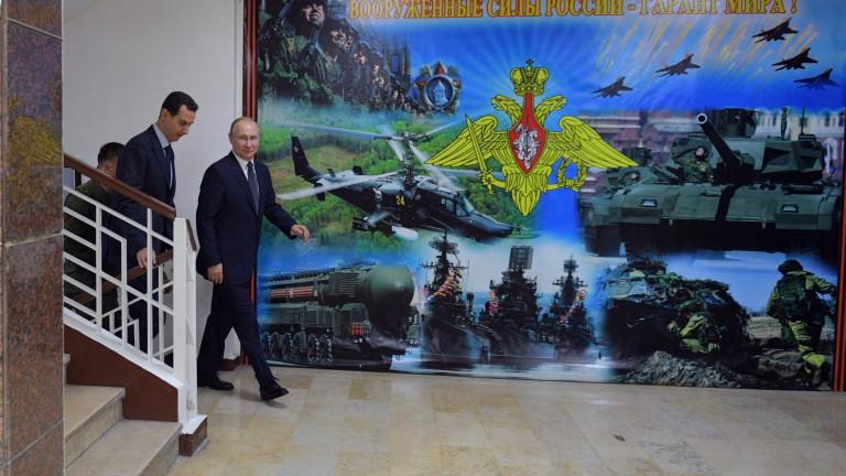 Посещението на президента Владимир Путин в Дамаск показва, че Русия