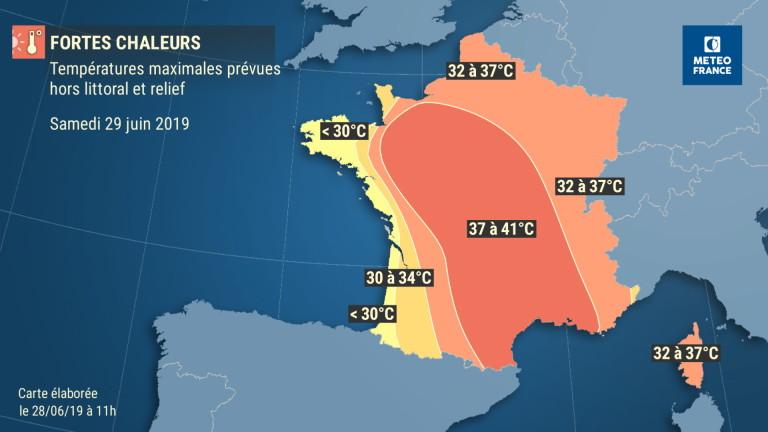 Франция за първи път регистрира над 45 градуса по Целзий