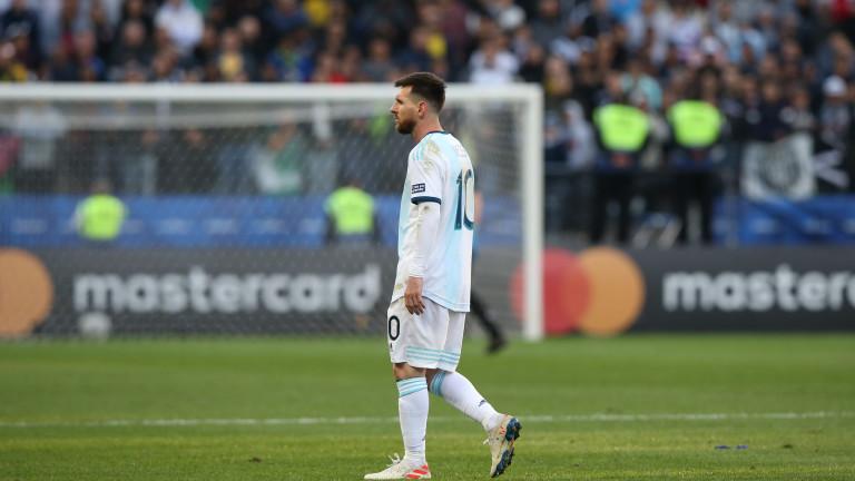 Звездата на Аржентина Лионел Меси получи леко наказание от южноамериканската