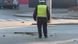 Блъснаха моторизиран полицай в Пловдив