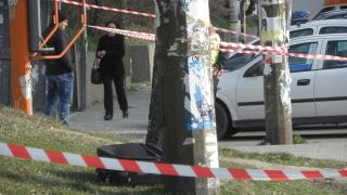 Стълб падна върху кола в центъра на София