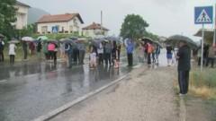 Протест срещу каменна кариера блокира пътя към Илинден-Ексохи