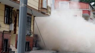В Истанбул рухна блок