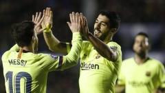 Меси и Суарес с повече голове от отборите на Реал и Атлетико в Ла Лига