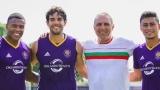 Стоичков позира гордо с българския трибагреник