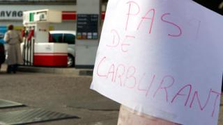 25% от френските бензиностанции без гориво