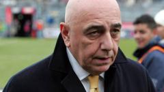 Галиани: Милан се нуждае от спокойствие