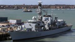 Британски военен кораб през Тайванския проток вбеси Китай