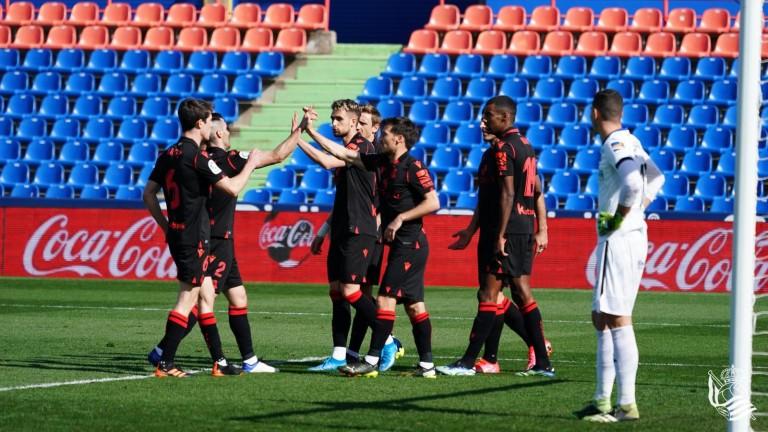 Реал Сосиедад с първа победа като гост за годината, Хетафе капитулира на собствен терен