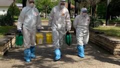 Екип на ВМА дезинфекцира болницата във Видин