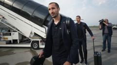 Джорджо Киелини и Мерих Демирал на линия за Ювентус срещу Динамо (Киев)