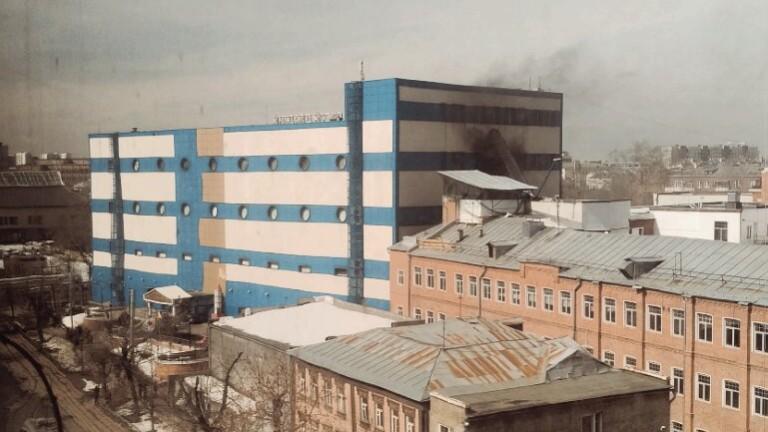 В източната част на руската столица Москва е избухнал пожар
