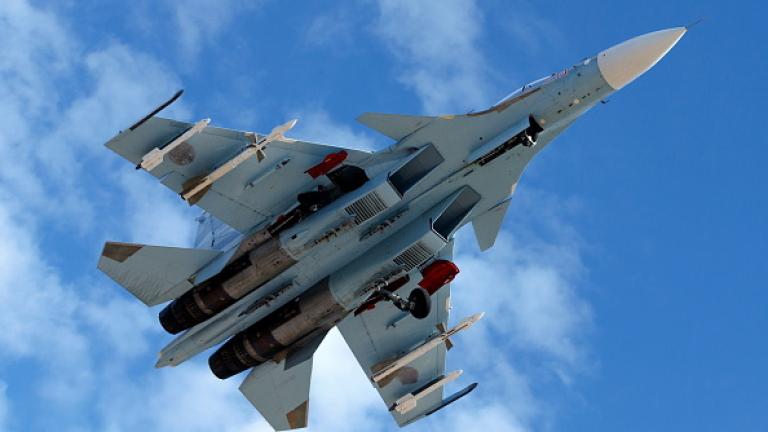 Изтребител Су-30СМ се разби в Казахстан