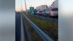 """Протестиращи блокираха магистрала """"Марица"""" при Свиленград"""