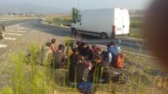 14 мигранти са хванати в неделя на пътя Созопол-Бургас