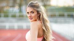 Най-секси жената на пистата за бягане