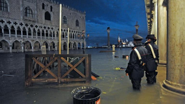 Части от Венеция са под вода след най-високия прилив за