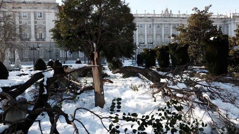 Заради обилните снеговалежи, причинени от бурята