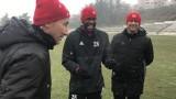 ЦСКА отново тренира, Жеферсон се радва като малко дете на снега