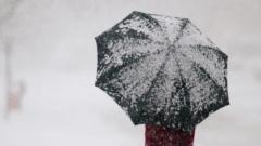 Дъжд и сняг се редуват