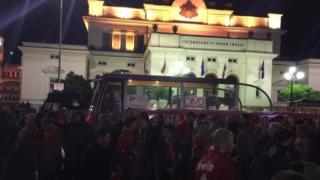 Червеният автобус потегли, второ шествие на ЦСКА за деня