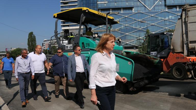 Фандъкова обеща, че големите ремонти в София приключват до 15 септември