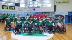 Националният отбор на България по баскетбол на колички спечели първи мач