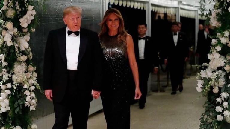Бляскавата Нова година на семейство Тръмп