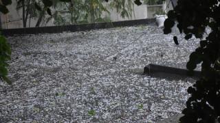 Пороен дъжд и градушка се изсипаха над Русе