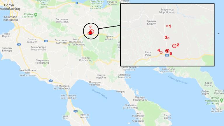 Серия от земетресения бяха регистрирани в последните 12 часа в