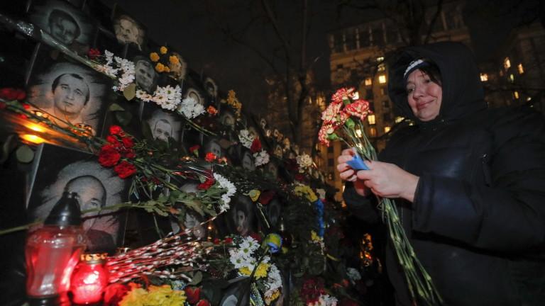 С шествия, митинги и възпоменателни молебени за героите от Небесния
