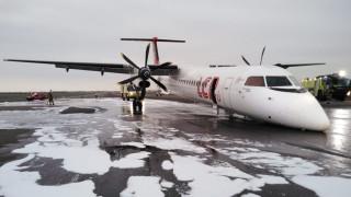 Пътнически самолет кацна без преден колесник в Перу