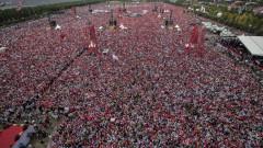 Милионен митинг в Истанбул подкрепи опозиционния кандидат Индже