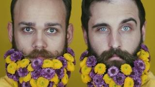 Нова мода! Мъже с цветя в брадите (СНИМКИ)