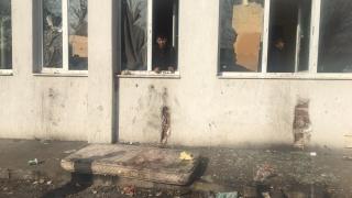 Пожар лумна в бежанския лагер в Харманли