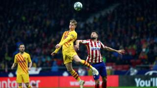 Атлетико (Мадрид) - Барселона 0:1 (Развой на срещата по минути)