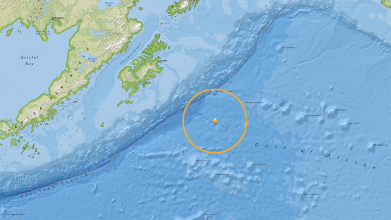 Земетресение от 8,2 по Рихтер край бреговете на Аляска