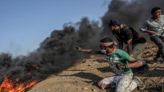 Седем палестинци и израелски войник убити при сблъсъци в Газа