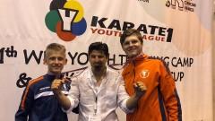 Три медала за България от Световната младежка лига по карате