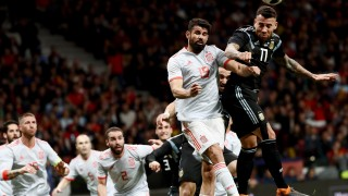 Испания - Аржентина 6:1 (Развой на срещата по минути)